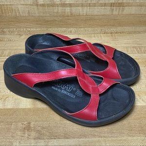 Birkenstock Tatami Red Leather Sandals Sandals L6